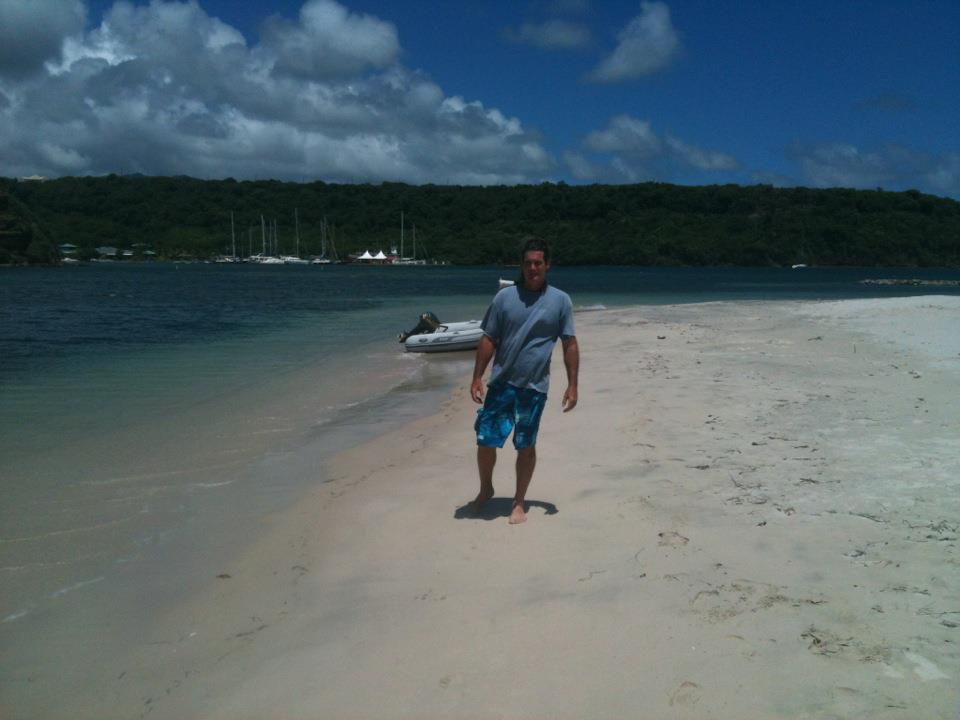 Me on Calvigny Beach.. a Really Beautiful Island off the South Side of Grenada